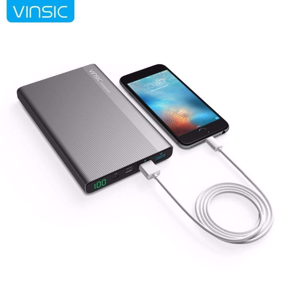 Power Bank Dual Smart USB Outputs Portable External Battery Charger