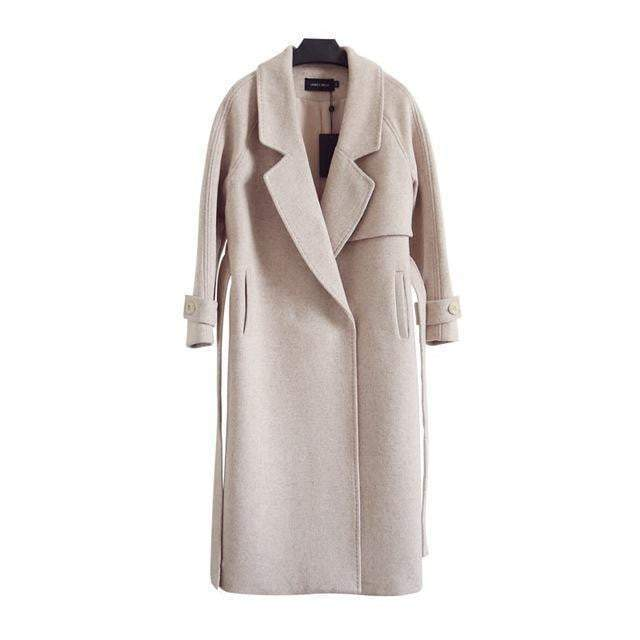 Distinguished High Quality Long Maxi  women's Winter Wool Coat