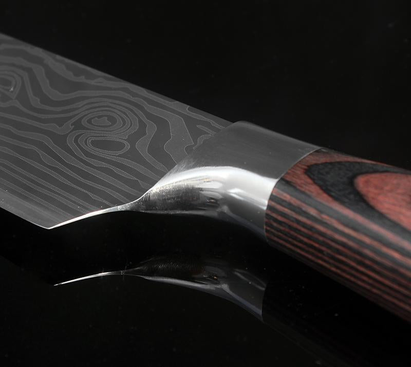 Japanese Chef Knife Set Professional Ikasu High Carbon Steel Damascus