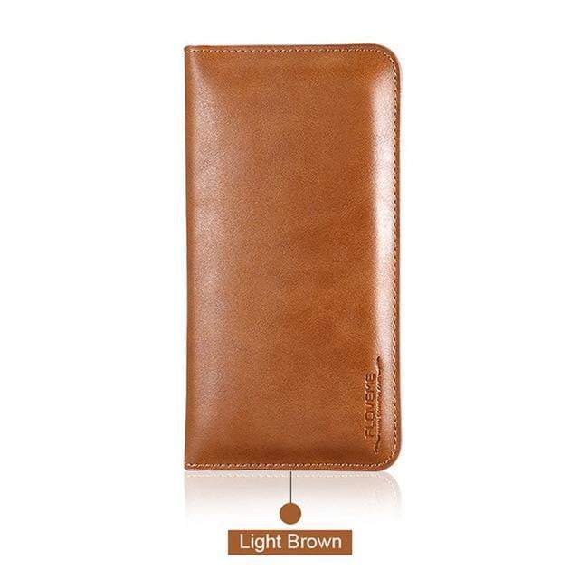 FLOVEME Universal Genuine Leather Wallet Case
