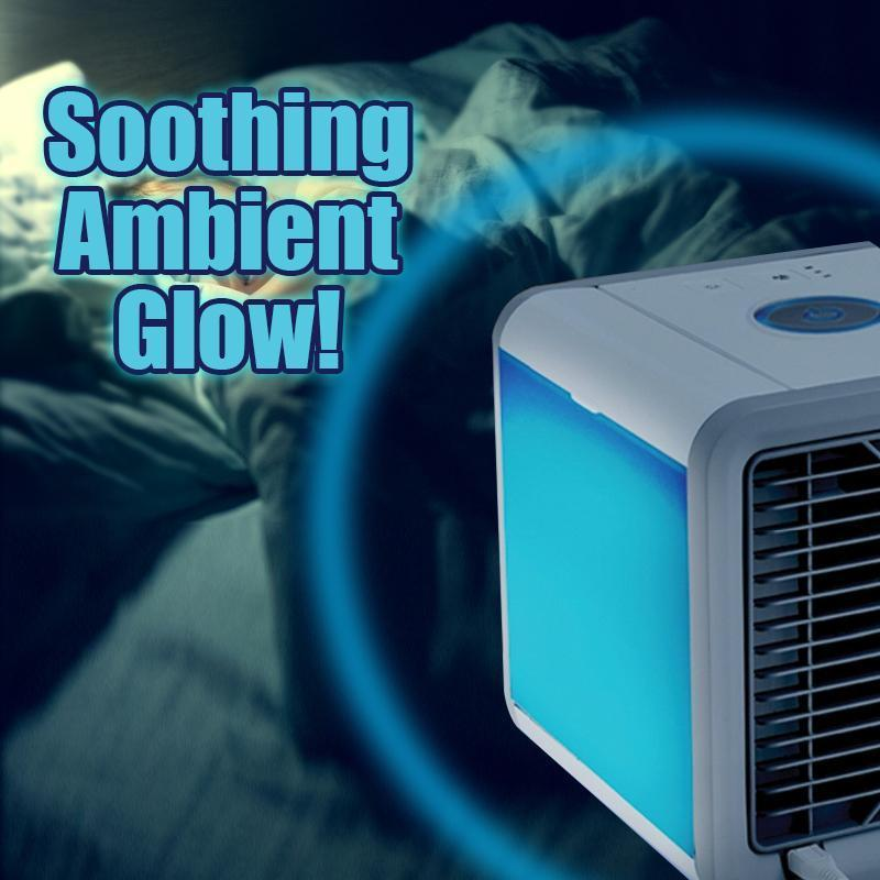 Mini Portable Personal Air Cooling Unit with Ambient Glow