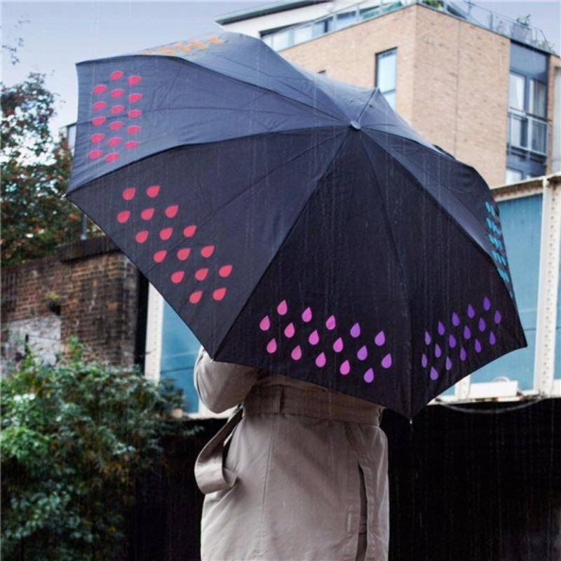 Tri-fold Magical Color Changing Umbrella