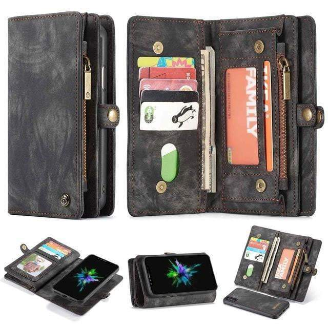 Detachable Genuine Leather Magnetic Flip Cover Phone Case