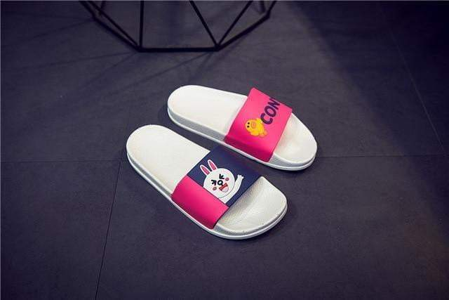 Ladies summer Cartoon unicorn Slippers