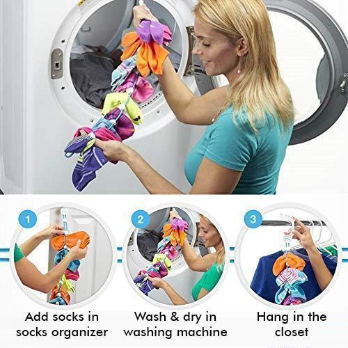 Sock Organizer Laundry Helper