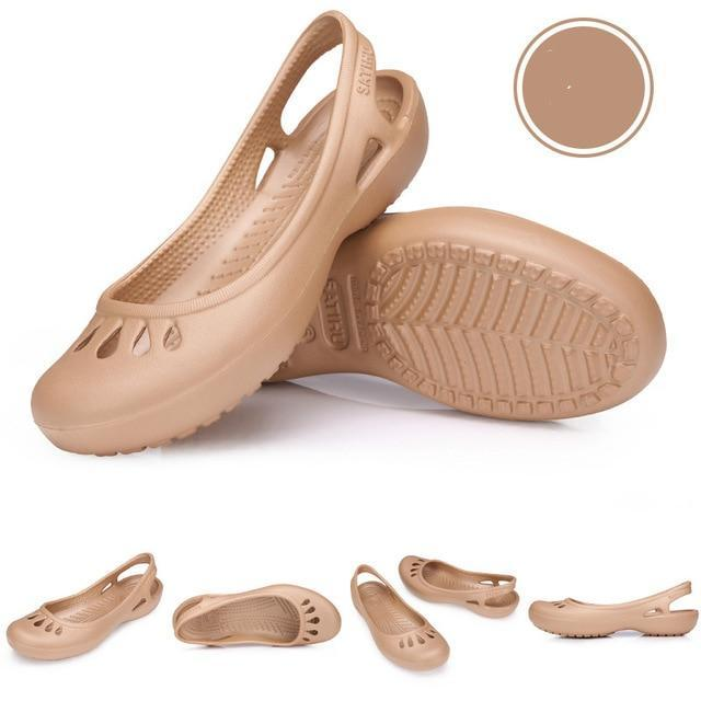 women Clogs Jelly Sandals Home Non-slip Hole Shoes