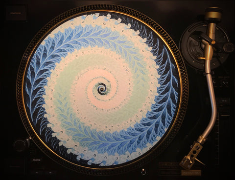 "Zoetrope Felt Turntable Slipmat ""Blue Fern"""
