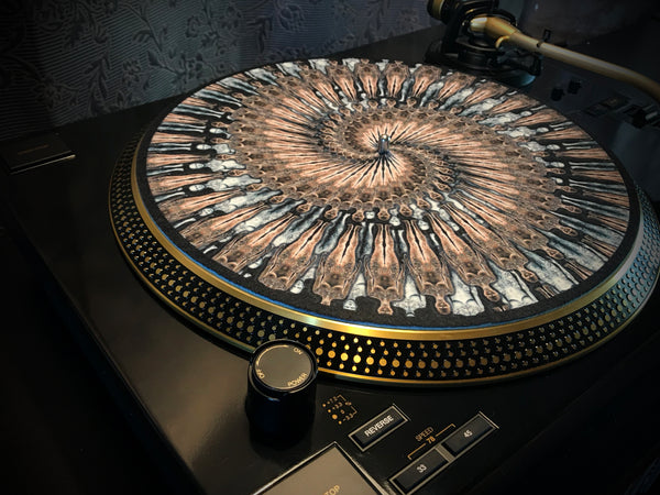 "Zoetrope Felt Turntable Slipmat: ""Floating Clones 1"""