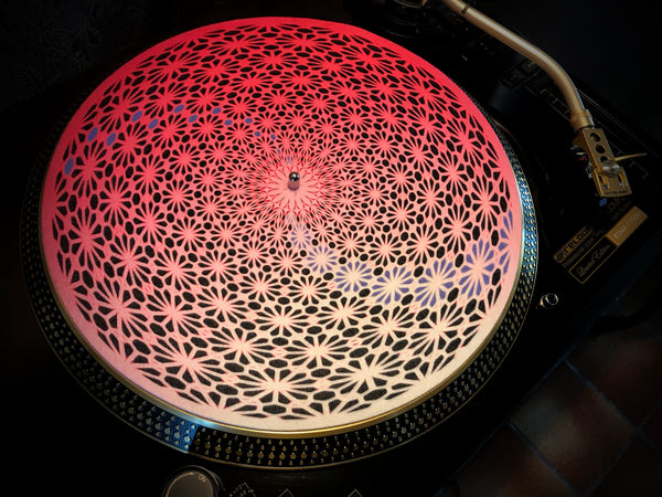 "Zoetrope Felt Turntable Slipmat ""Geometric Pink"""