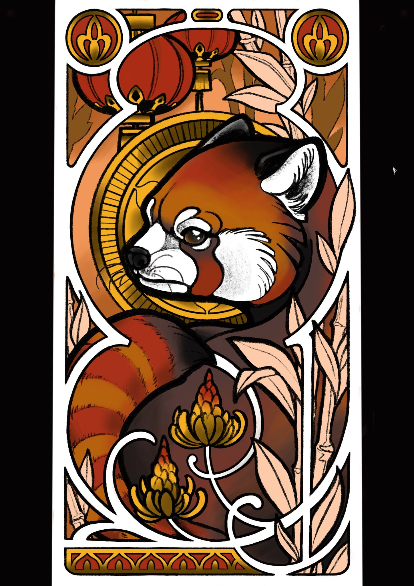 Red Panda - Print by Nina Noa