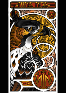 Crested Eagle - Print by Nina