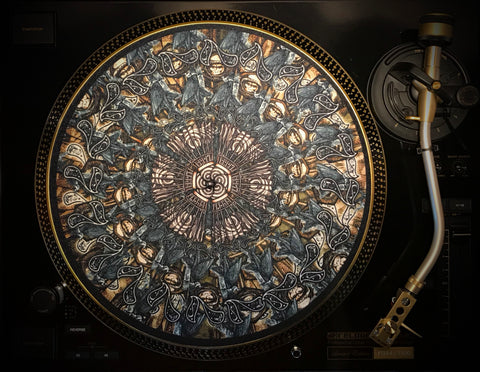 "Zoetrope Felt Turntable Slipmat: ""Jean Crow"""