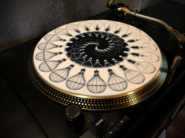 "Zoetrope Felt Glow-in-the-dark Turntable Slipmat  ""Traveling Light 2"""