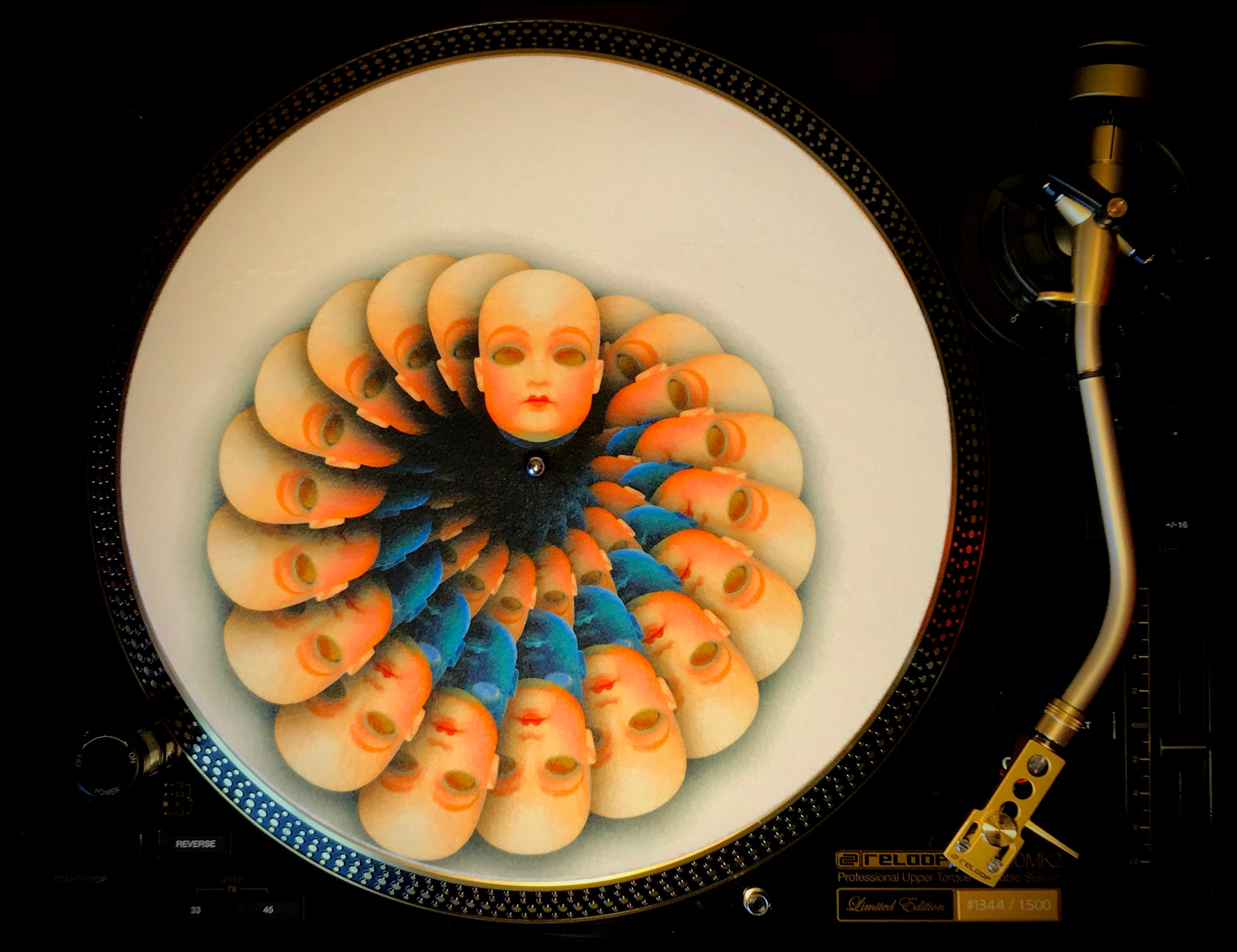 "Zoetrope Felt Turntable Slipmat "" Living Doll"""