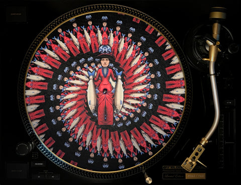 "Felt Zoetrope Turntable Slipmat ""Marcella"""