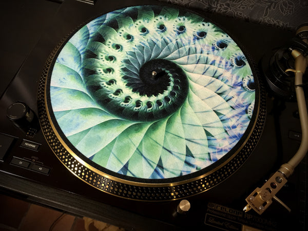 "Zoetrope Felt Turntable Slipmat ""Nautical Organic"""