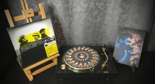 "STEVEN DE BRUYN Combi Package: Vinyl record ""Fortune Cookie""+Turntable Slipmat+Button+Print"
