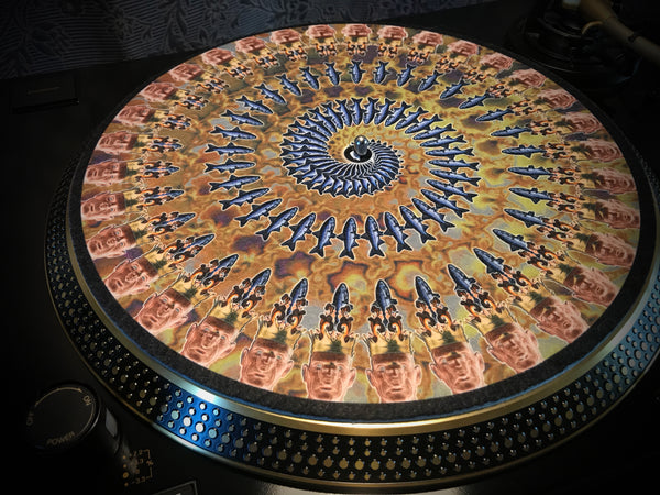 "Zoetrope Felt Turntable Slipmat ""The Fisher King"" Earth"