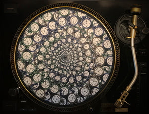 "Zoetrope Felt Turntable Slipmat ""Time Traveler 1"""