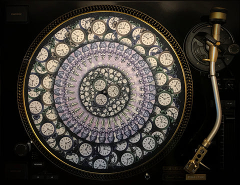 "Zoetrope Felt Turntable Slipmat ""Time Traveler 2"""