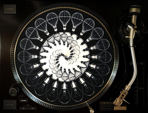 "Zoetrope Felt Glow-in-the-dark Turntable Slipmat  ""Traveling Light 1"""