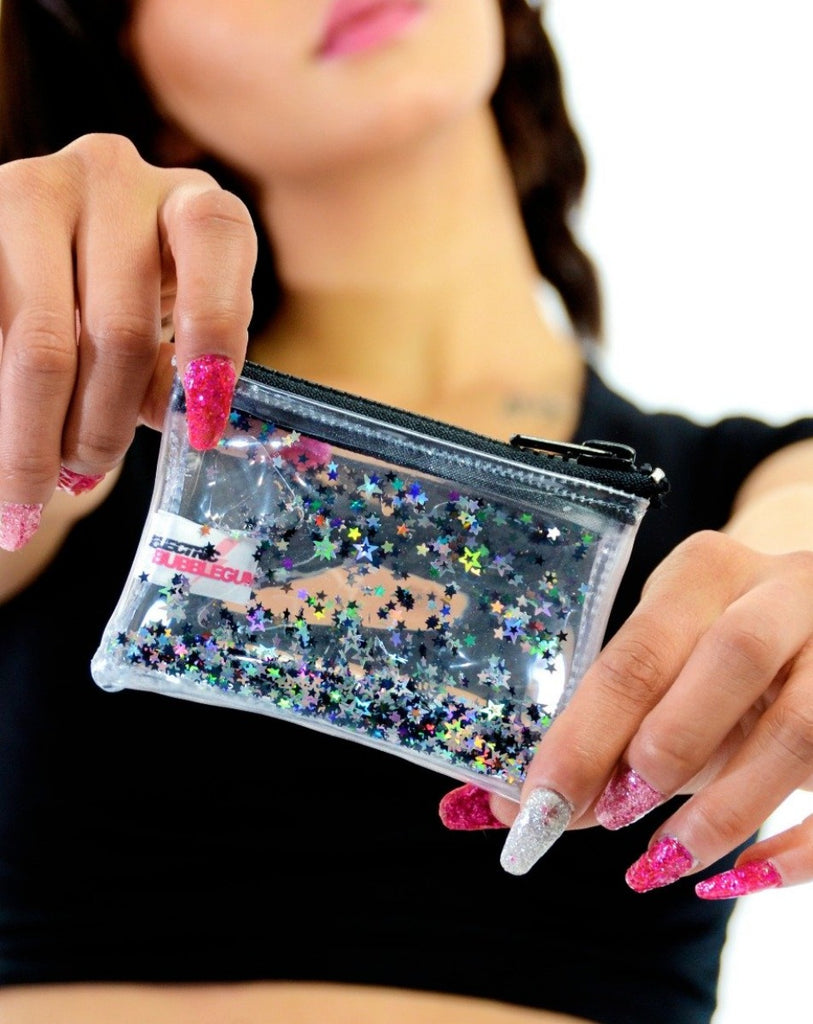Liquid Glitter Coin Purse-Midnight Glam
