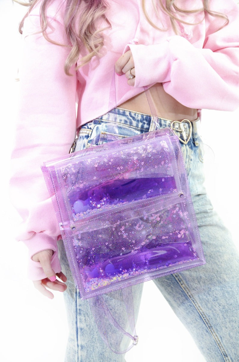 Liquid Glitter Backpack - Sugar Pop Purple
