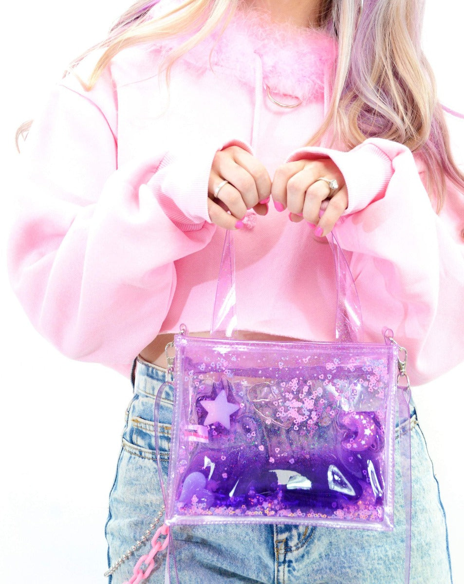 Liquid Glitter Mini Tote - Sugar Pop Purple