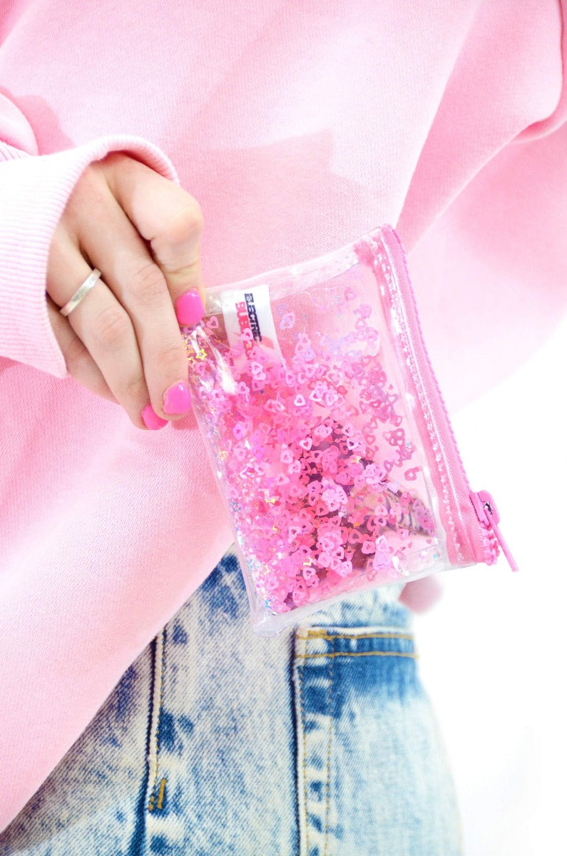 Liquid Glitter Coin Purse - Sugar Pop Pink