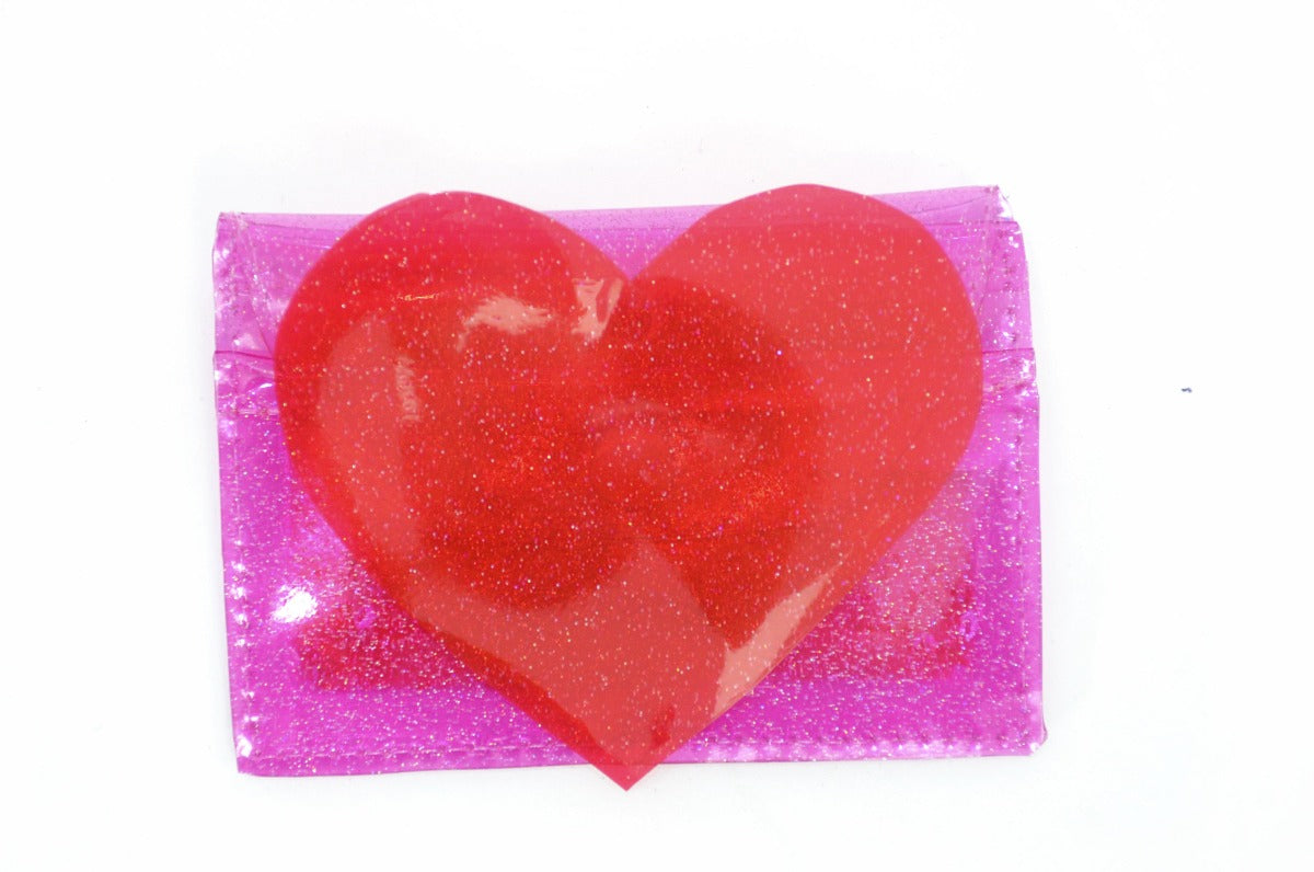 You Know You Love Me Cardholder with Liquid Glitter