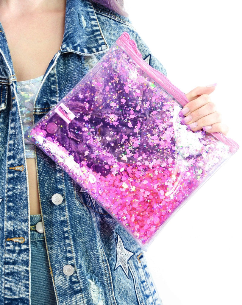 Liquid Glitter Make Up Bag - Sparkling Unicorn