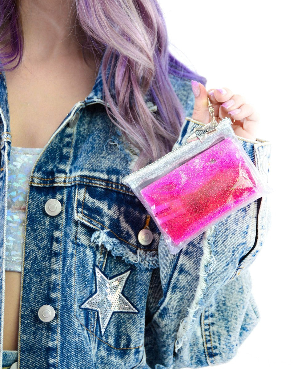 Glitter Goo Coin Purse - Starbright - Electric Bubblegum
