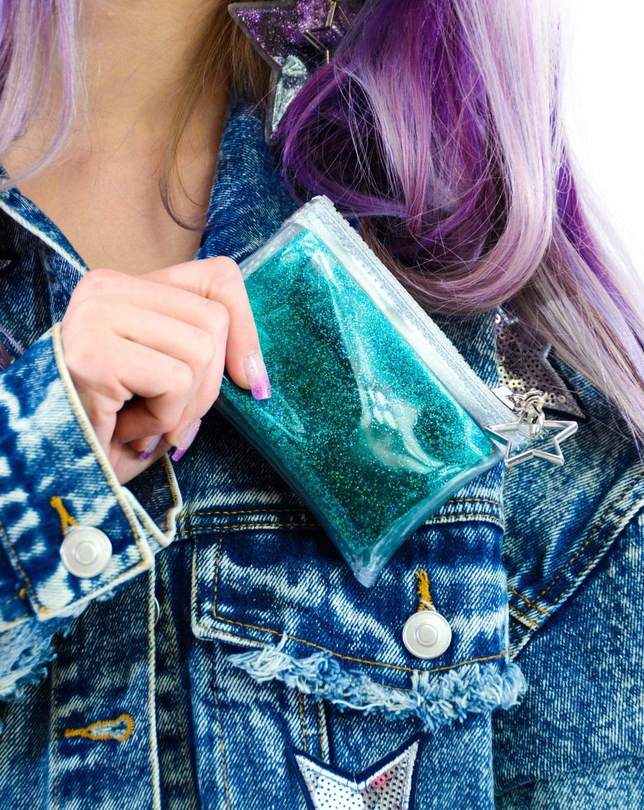 Glitter Goo Coin Purse - Twilight - Electric Bubblegum