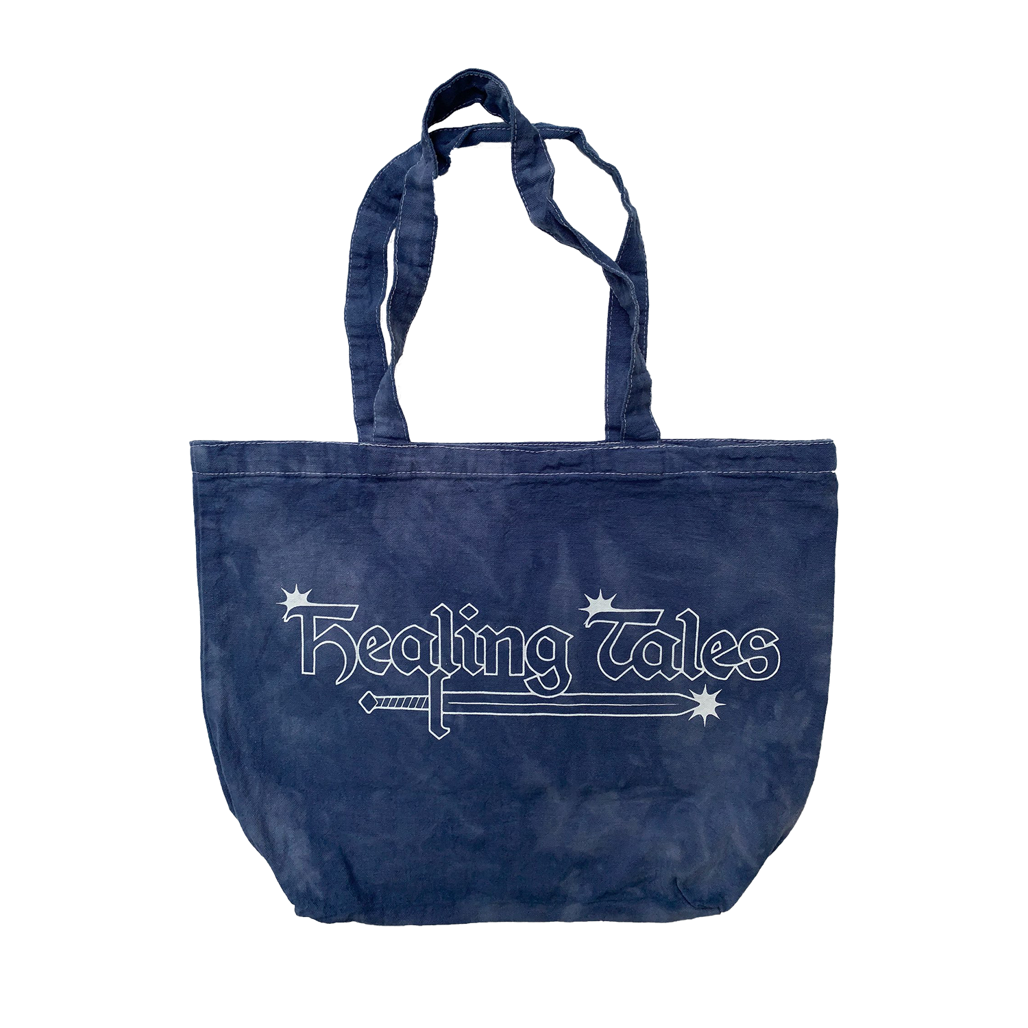 Healing Tales Star Logo Tote Bag Washed Blue