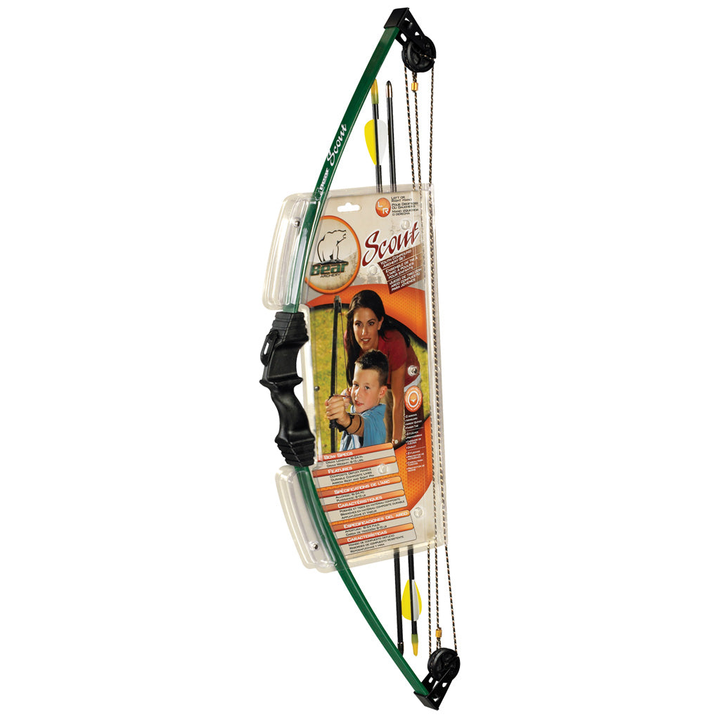 Bear Scout Bow Set Green 8-13 Lbs. Rh-lh