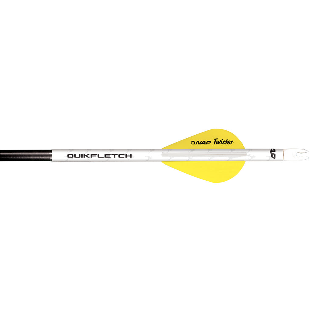 Nap Quikfletch W-twister Vanes White-yellow 6 Pk.