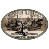 Rivers Edge Tin Sign Deer Camp