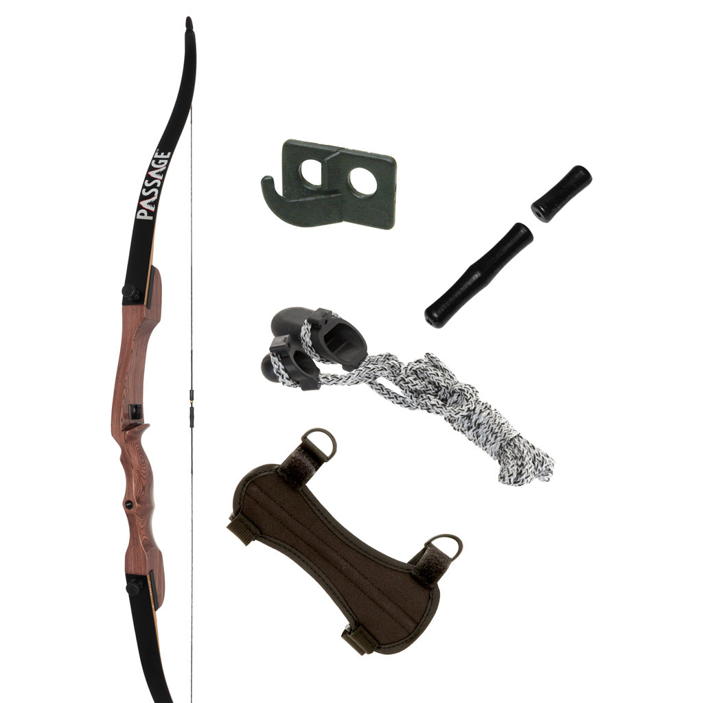 October Mountain Passage Recurve Bow Package 54 In. 20 Lbs. Rh No Arrows Or Quiver
