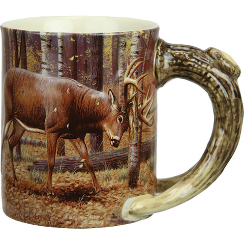 Rivers Edge Deluxe Mug Deer Scene 15 Oz.