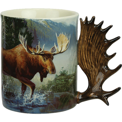 Rivers Edge Deluxe Mug Moose Scene 15 Oz.