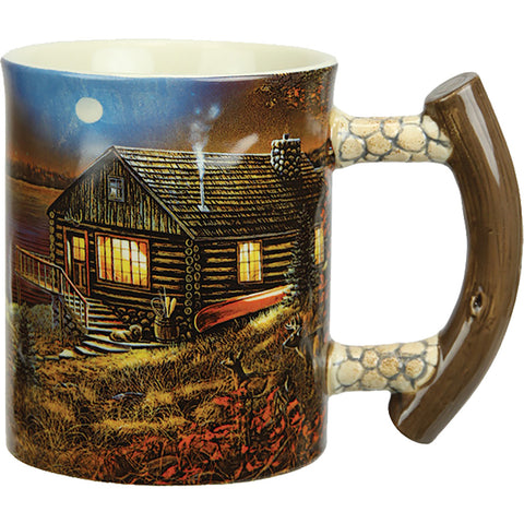 Rivers Edge Deluxe Mug Cabin Scene 15 Oz.