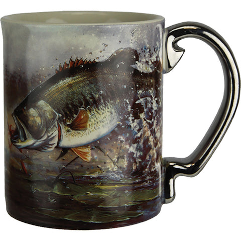 Rivers Edge Deluxe Mug Bass Scene 15 Oz.