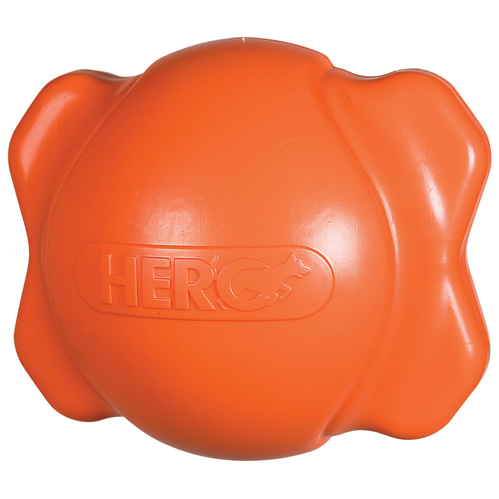 Hero Signature Series Soft Rubber Bone Ball Hunter Orange Large
