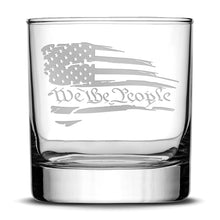 Load image into Gallery viewer, Premium .50 Cal BMG Bullet Bottle Set, Jersey Whiskey Decanter, We The People Flag, 750mL by Integrity Bottles