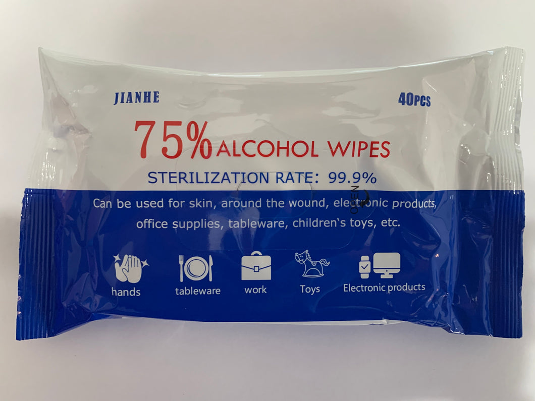 10 Pack Alcohol Wipes (40 Per Pack)