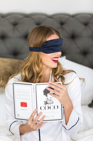 Luxury Satin Eye Mask - Navy