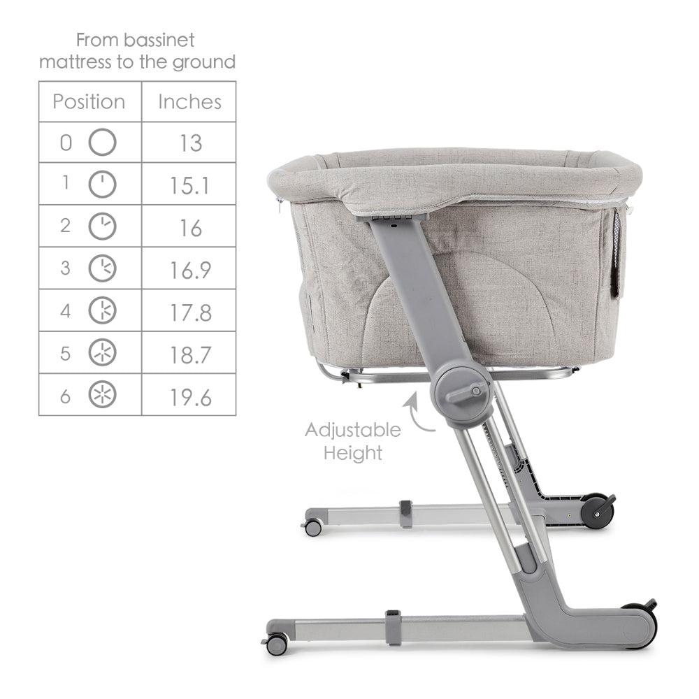 Hug Me Plus Bedside Bassinet, Shadow Grey