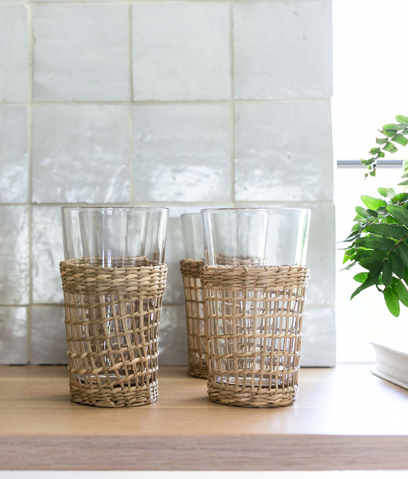 Seagrass Glasses - set of 6