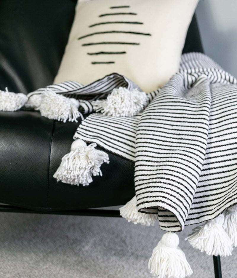 Cotton Striped Throw