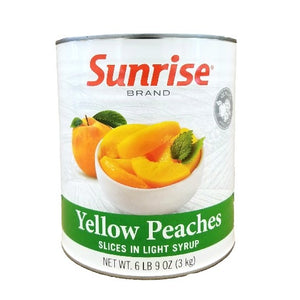 Peach Slices, Yellow, In Light Syrup  - #10 Can
